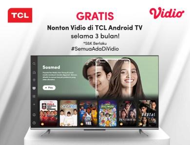 Bebas Nonton Semua Tayangan di Vidio dengan TCL Android TV selama 3 bulan