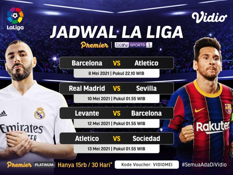 Jadwal La Liga Pekan Ini yang Bisa Kamu Saksikan di Vidio