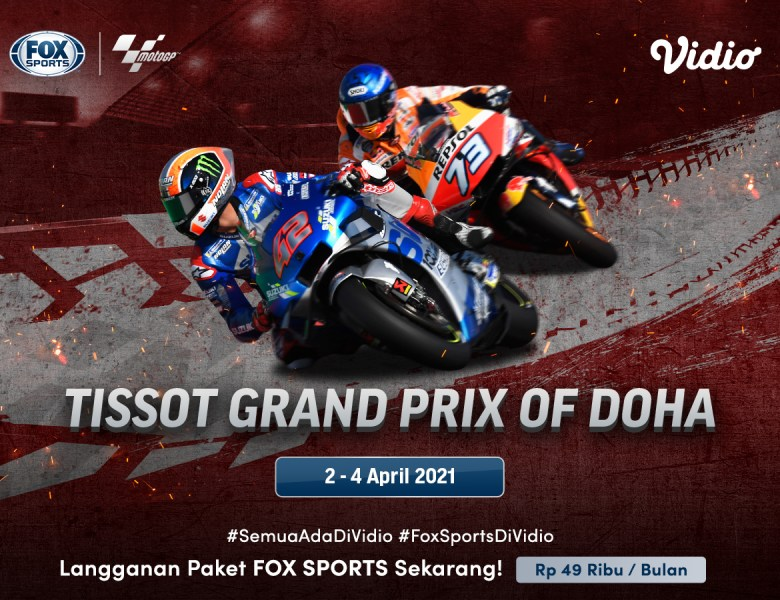 Ini Jadwal & Link Live Streaming MotoGP Doha 2021 2-4 April