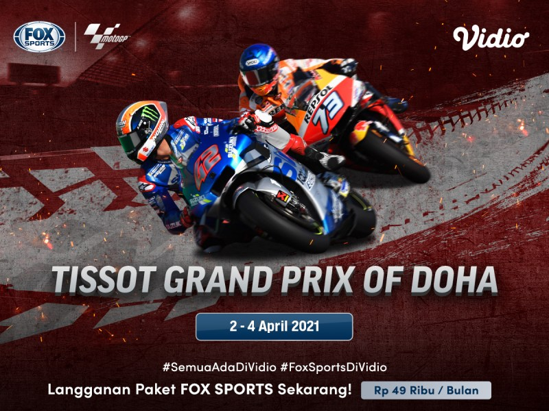 Ini Jadwal & Link Live Streaming MotoGP Doha 2021 2-4 April