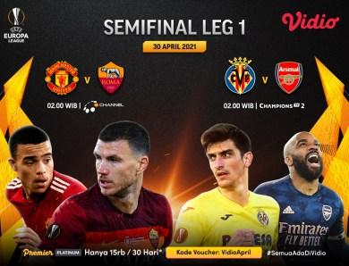 Jadwal Streaming Liga Europa 2020/2021 Babak 8 Besar Leg Kedua di Vidio