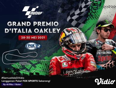 Live Streaming MotoGP Seri Italia 2021 Eksklusif di Vidio