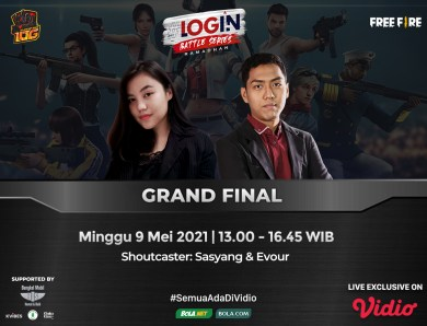 Live Streaming Grand Final Login Battle Series di Vidio
