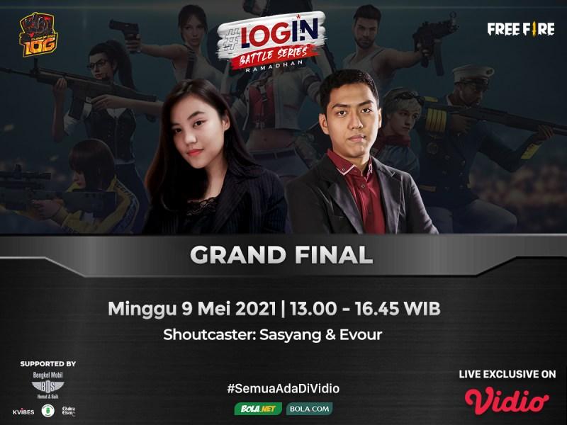 Live Streaming Grand Final Login Battle Series di Vidio