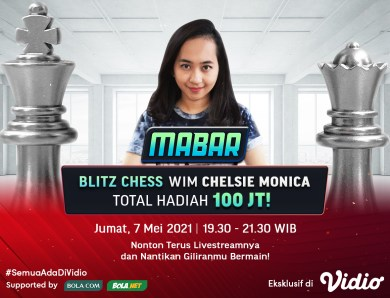 Jadwal MABAR Blitz Chess WIM Chelsie Monica di Vidio