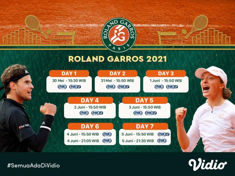 Live Streaming Grand Slam Roland Garros 2021 Pekan Ini