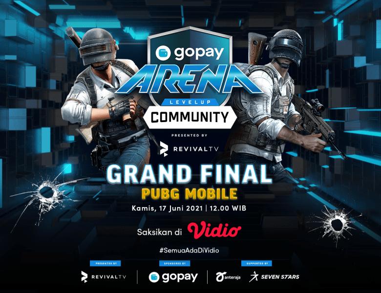 GoPay Arena Level Up Community Grand Final – PUBG Mobile, Kamis 17 Juni 2021 Live Streaming di Vidio