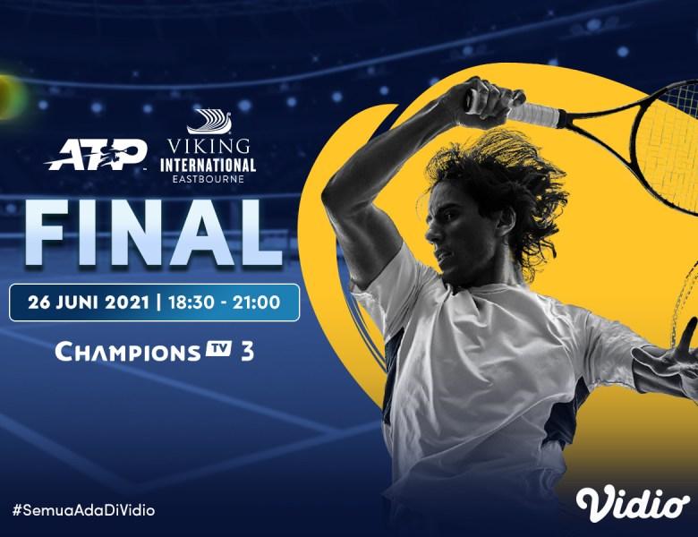 Live Streaming ATP 500 Viking International Eastbourne di Vidio, Sabtu 26 Juni 2021