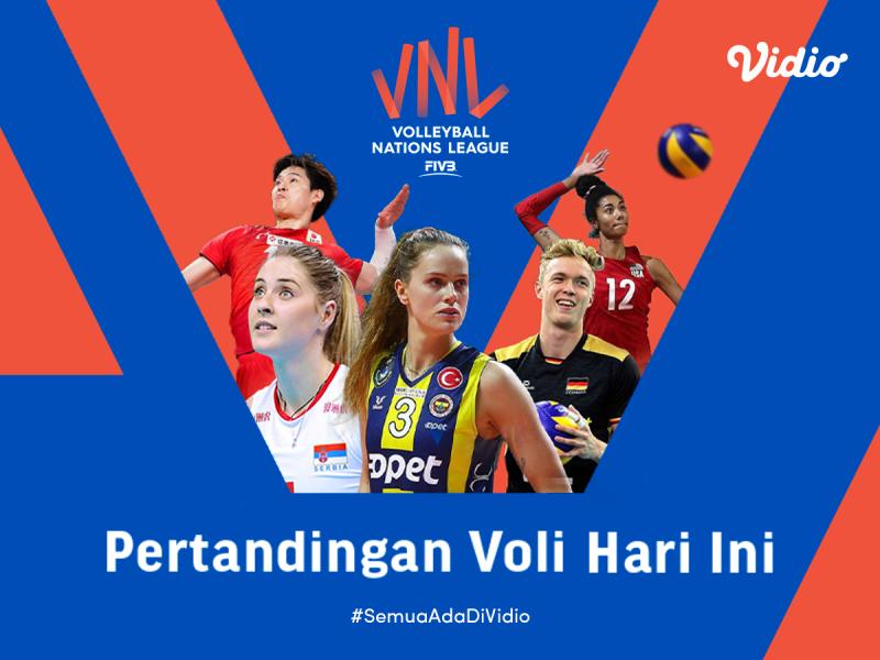 Live Streaming Big Match VNL 2021: Republik Dominika vs Korea dan China vs Kanada