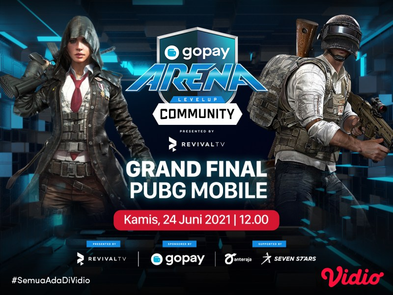 Live Streaming Grand Final GoPay Arena Level Up Community PUBG Mobile di Vidio, Kamis 24 Juni 2021
