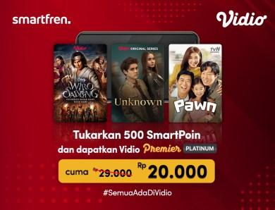 Wahai Pengguna Smartfren, Kini Langganan Vidio Premier Platinum Makin Murah!