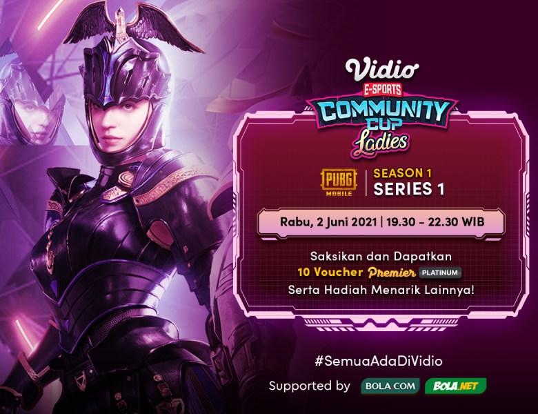 Streaming Vidio Community Cup Ladies Season 1 – PUBGM 1