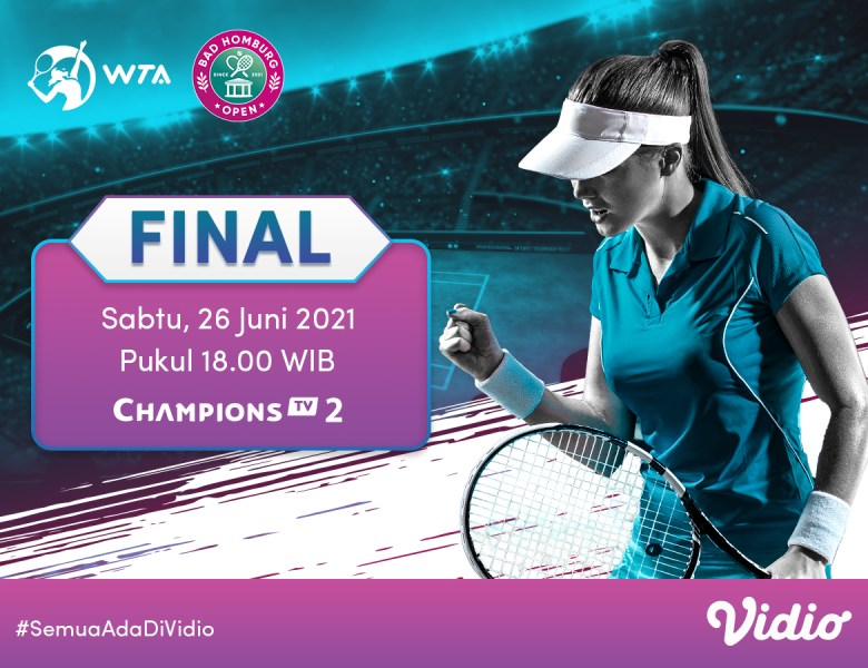 Live Streaming WTA 250 Bad Homburg Open 2021 di Vidio, Sabtu 26 Juni