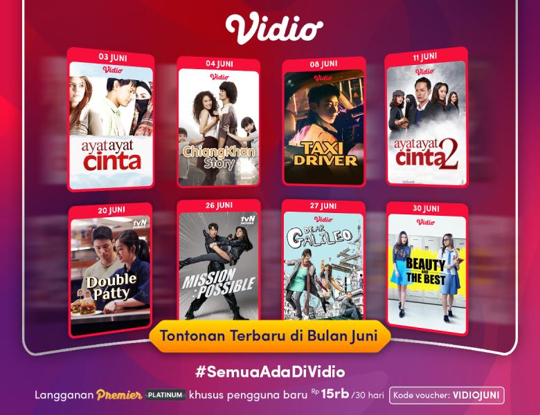Nonton Film dan Original Series Terbaru Semakin Seru dengan Promo Vidio Premier Juni