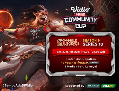 Live Streaming Vidio Community Cup Hari Ini: Mobile Legends Bang Bang Season 9