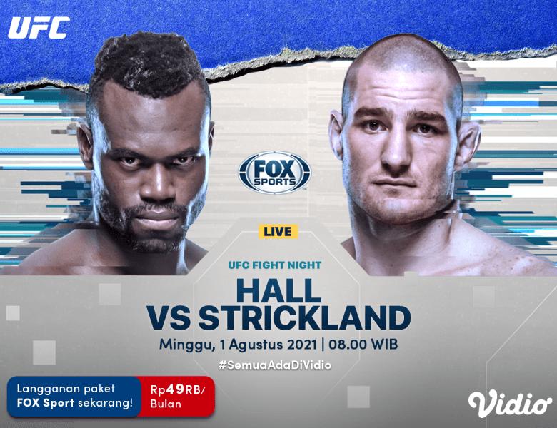 Live Streaming UFC Las Vegas 33: Uriah Hall vs Sean Strickland di Vidio