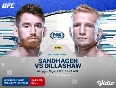 Jadwal Live Streaming UFC Vegas 32 Sandhagen Vs Dillashaw, Minggu 25 Juli 2021 di Vidio