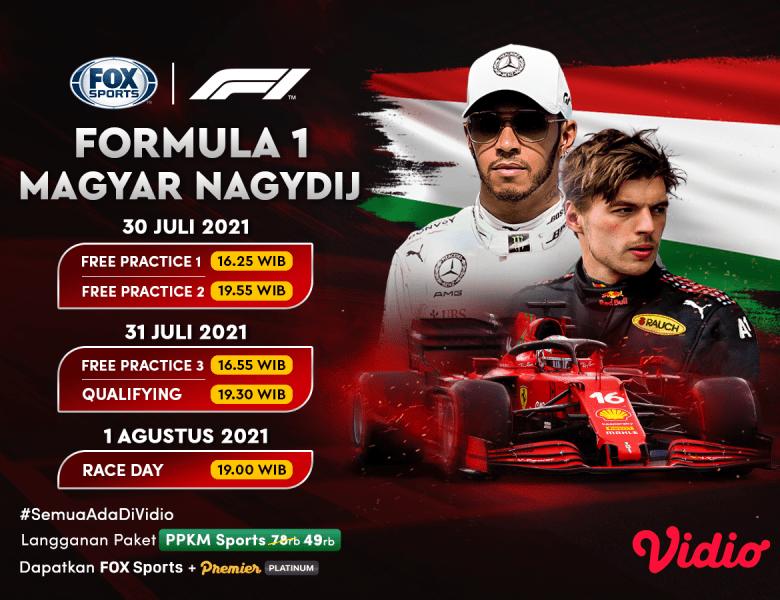 Jadwal Live Streaming Formula 1 Hungaria 2021 Pekan Ini di Vidio