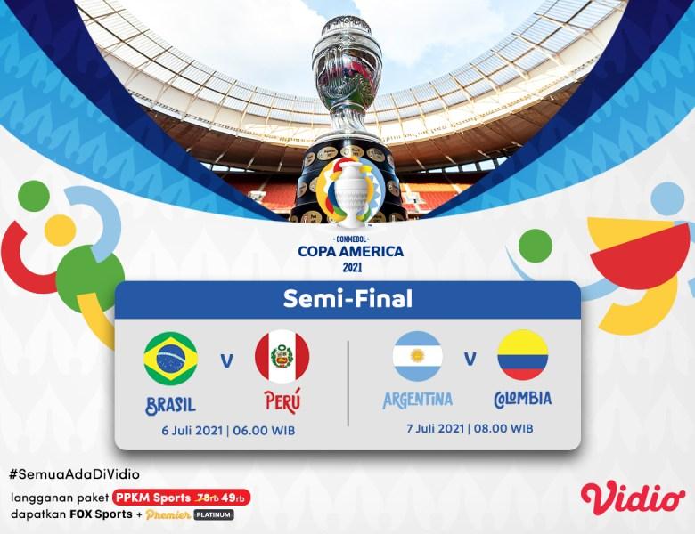 Semifinal Copa America 2021, Jadwal Lengkap, Top Skor, dan Link Live Streaming