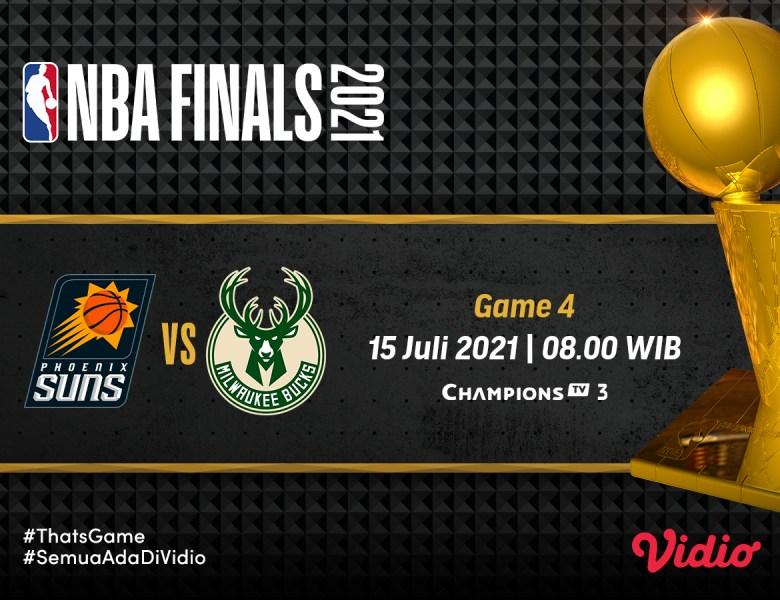 Final NBA 2021 Gim 4: Milwaukee Bucks vs Phoenix Suns, Prediksi, Jadwal, dan Link Live Streaming