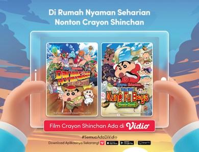 Asyik di Rumah bersama Si Alis Tebal, Sekarang Nonton Crayon Shinchan The Movie Bisa di Vidio