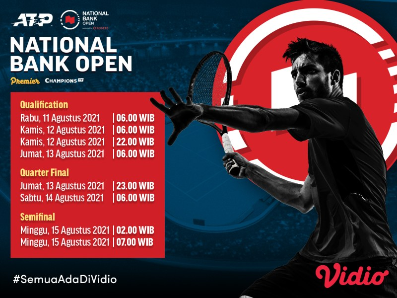 Live Streaming ATP Tour 2021: National Bank Open Toronto