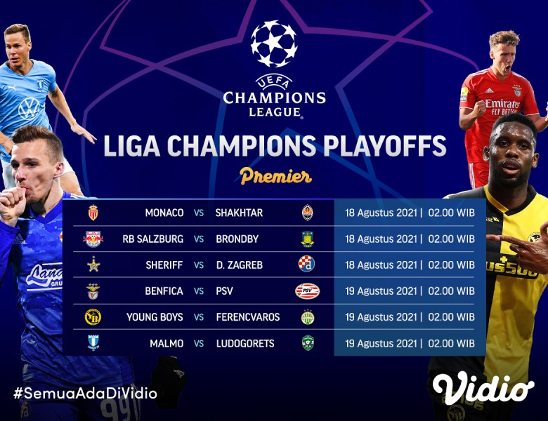Jadwal dan Link Live Streaming Liga Champions Babak Play-off Leg 1 2021-2022