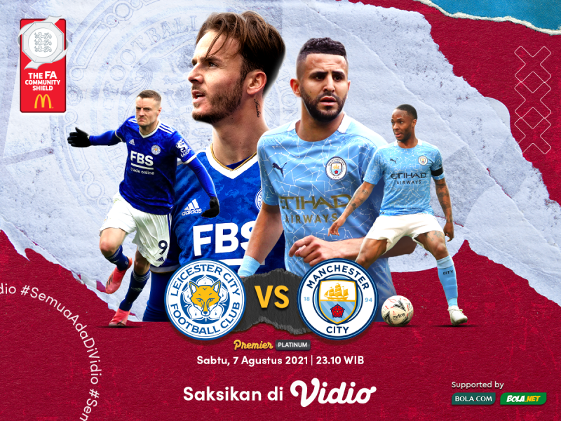 Streaming Community Shield 2021 Man City Vs Leicester