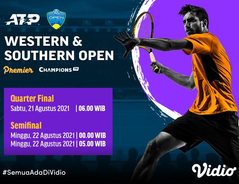 Live Streaming ATP Tour: Semifinal WS Open 2021 di CTV