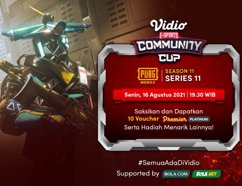Live Streaming Vidio Community Cup Season 11 PUBG Mobile