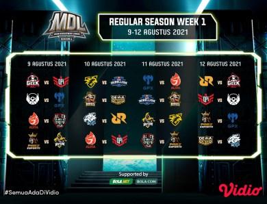 Live Streaming MDL Reguler Season 4, Senin 9 Agustus 2021