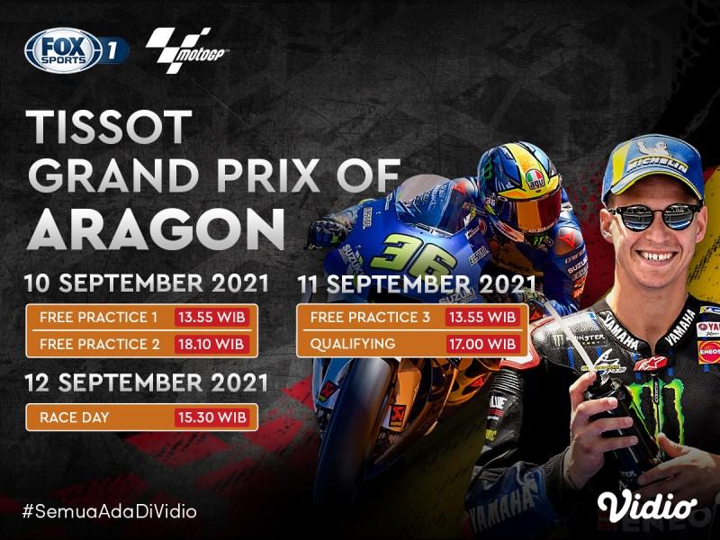 Streaming MotoGP Aragon 2021 Akhir Pekan Ini di FOX Sports