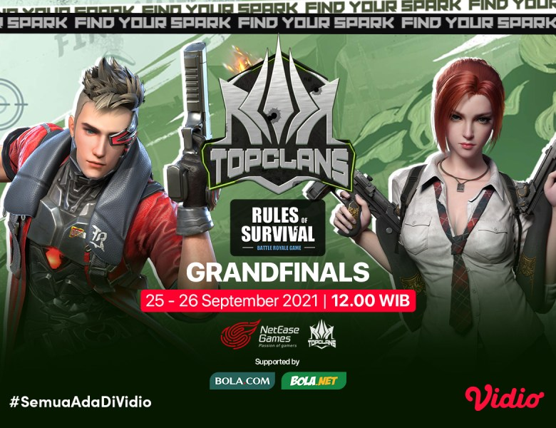 Streaming Grand Final Top Clans 2021 Invitational Rules of Survival
