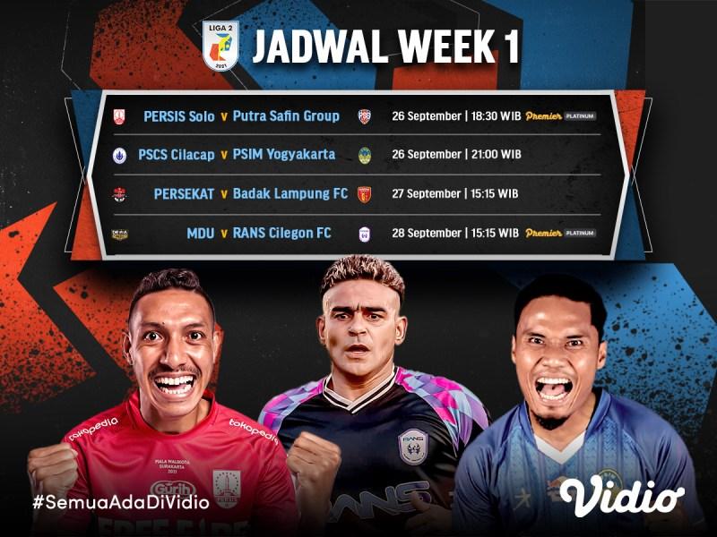 Jadwal dan Link Live Streaming Liga 2 2021 Pekan 1