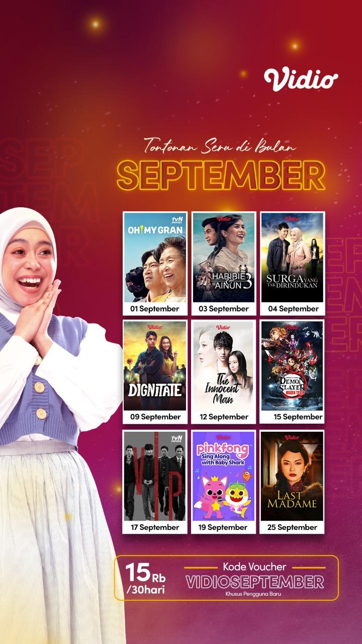 Promo Vidio Premier September