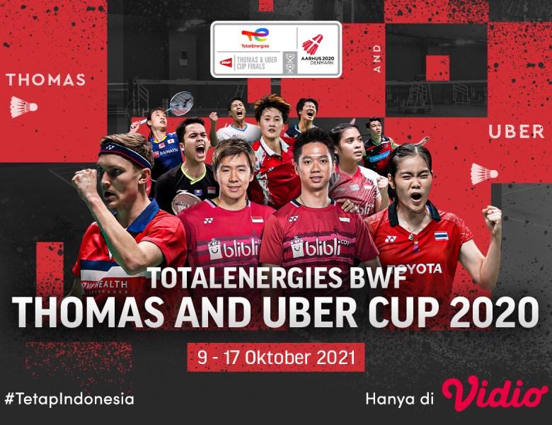 Jadwal Final Uber Cup 2020, China Hadapi Jepang Malam Ini