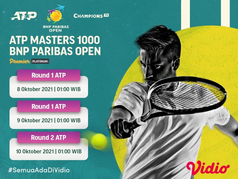 Ini Jadwal Streaming ATP Tour Indian Wells Masters 2021, Tanpa Novak Djokovic