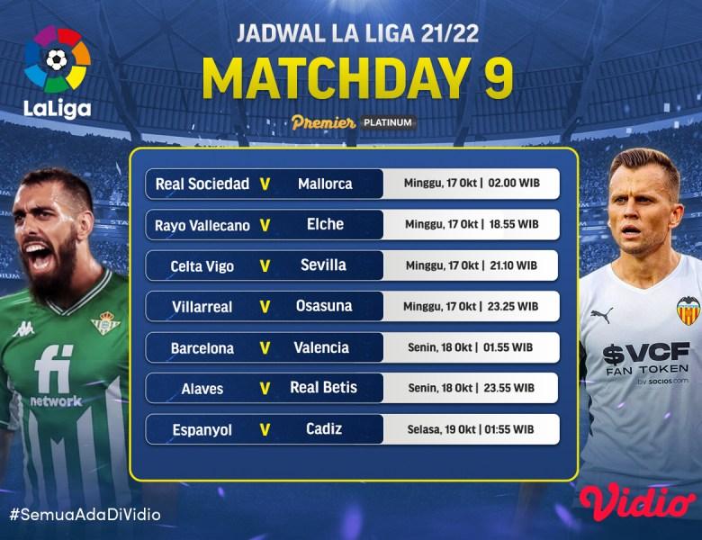 International Break Usai, Ini Jadwal Live Streaming La Liga 2021/22 Jornada 9