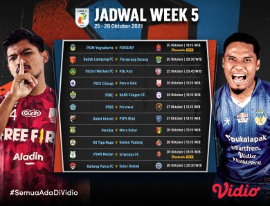 Live Streaming Liga 2 Indonesia 2021 Pekan Kelima