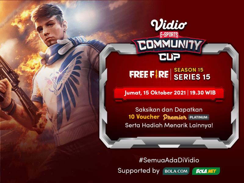 Streaming Vidio Community Cup Season 15 Free Fire Hari Ini