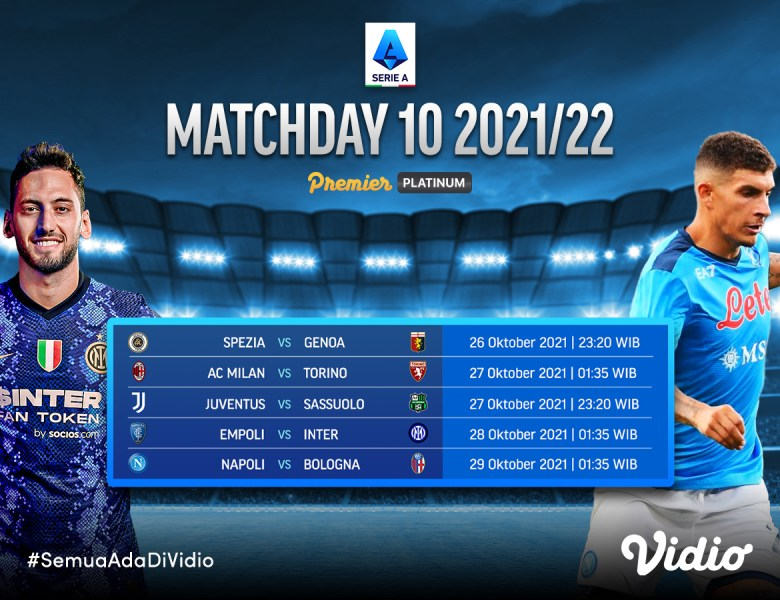 Link Streaming Serie A Italia Live 2021/22 Giornata 10