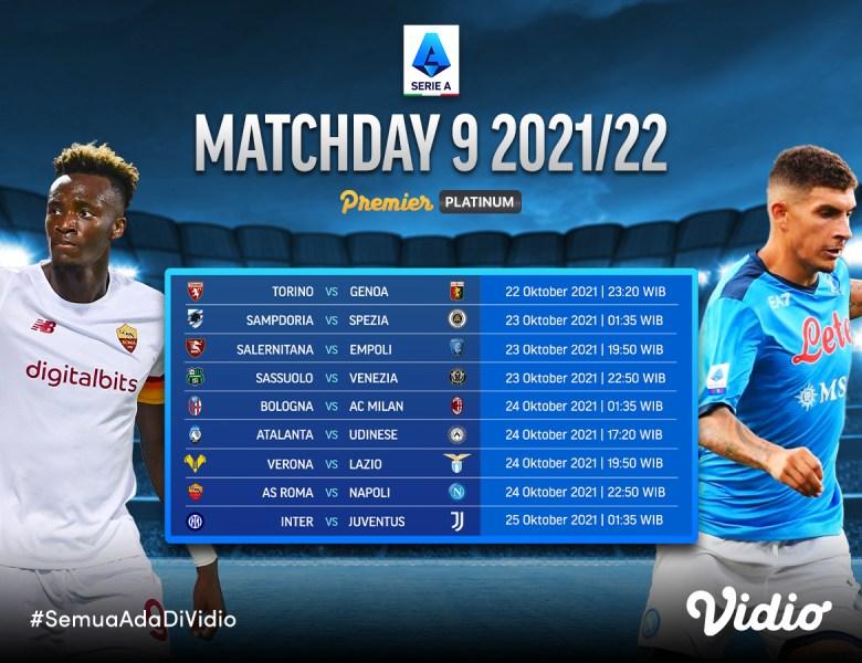 Ini Jadwal Live Streaming Serie A Italia 2021/22 Giornata 9