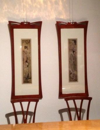 Mahogany frames by Van de Velde