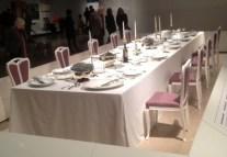 Dinner table by Henry van de Velde