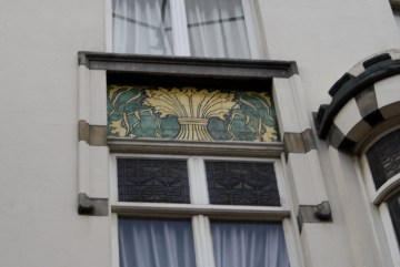 Spuistraat 274, Amsterdam - tile panel with bundle of ears