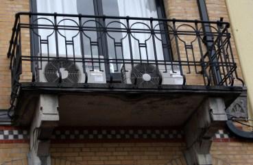 Wrought iron balcony of Centraal Apotheek Leeuwarden