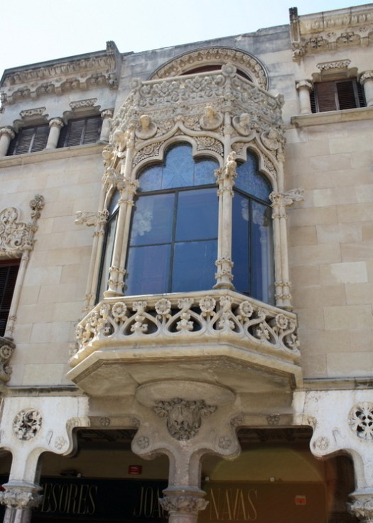 Facade Casa Navàs by Lluís Domènech i Montaner