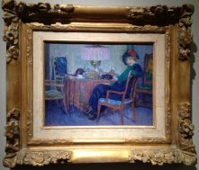 Lady with a Hat sitting at the table, Leo Gestel