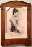 Femme Tricotant, 1889, Armand Rassenfosse, Lancz Gallery (BRAFA 15d)