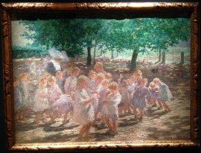 The Schoolyard in Spring, 1922, Jenny Montigny, Gallery Francis Maere (BRAFA 55a)